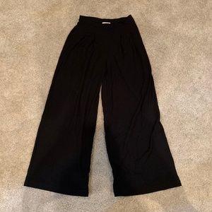 H&M wide leg black pants 8